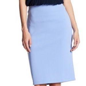 Sky blue pencil skirt